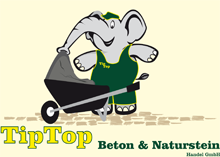 TipTop GmbH – Beton & Natursteinhandel GmbH, Mainz-Hechtsheim – Frischbeton – Schuttgüter – Splitter – Mineralgemsich